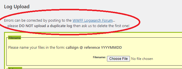 Log Upload?